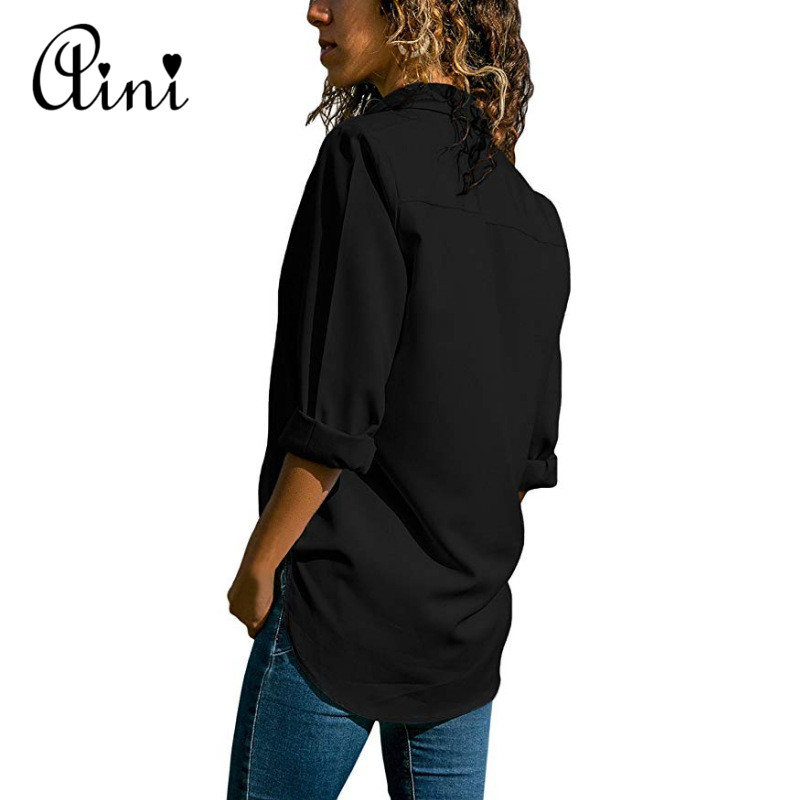 Plus Size 5XL Women Tops And Blouses 2018 Autumn Casual Solid Hollow Out Button Cotton Blouse Elegant Office Lady Female Shirts 1