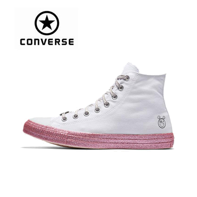 Converse x Miley Cyrus All Star Skateboarding Shoes Classic Women Canvas  High Top Anti-Slippery Resistant Comfortable f9691d28d0e0