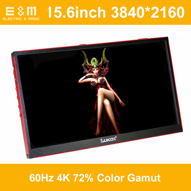2ms 15.6 Inch 3840*2160 4K 60Hz 8bit Portable 5V Game Display Screen 5K 2K IPS DP HDMI 2.0 Player Xbox PS4 Aerial Monitor
