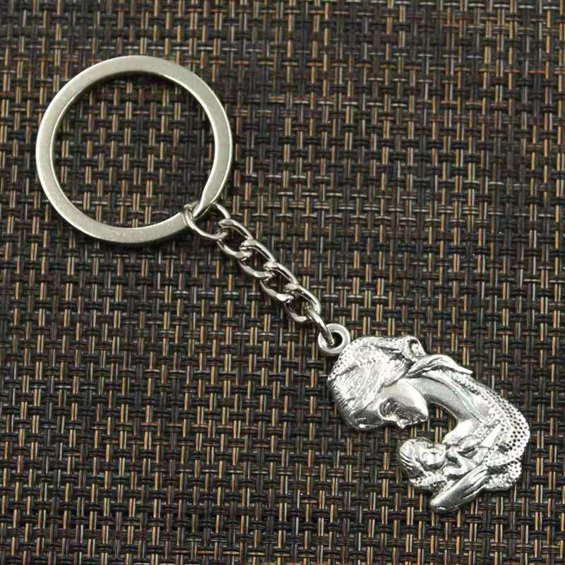 Drop Shipping Alloy Silver Mother Hold Son Pendant Charms Keychain Bag Handbag Keyring Car Key Chain Souvenir Pendant Gift in Key Chains from Jewelry Accessories