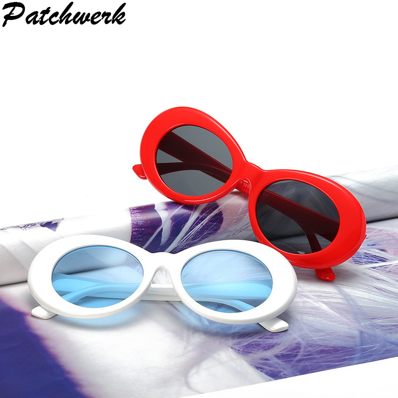 PATCHWERK Oval Sunglasses NIRVANA Kurt Cobain Sunglasses Men Women Vintage Retro