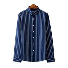 Mens Shirts Hawaiian Long-sleeved Blouse Men Striped Male Shirt clothing Slim fit New