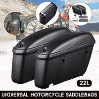 Pair Universal Motorcycle Hard Trunk Case Saddle Bag Side Luggage Box Saddlebags For Harley/Suzuki/Yamaha/Honda