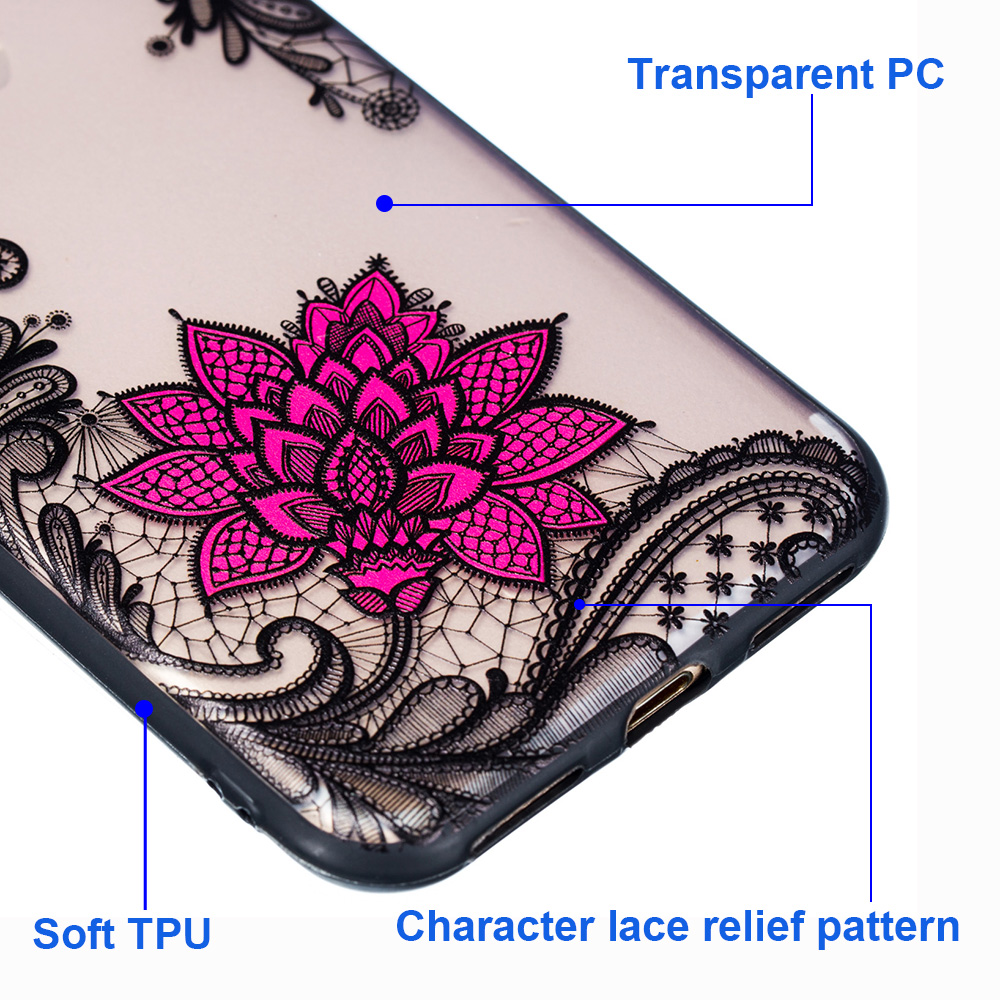 KIPX1059_3_JONSNOW Phone Case for iPhone 5S 6S 7 8 Plus Emboss Floral Rose Lace Protective Case for iPhone X XR XS Max PC Back Cover