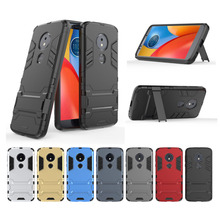 Rugged Armor Phone Case For Moto E5 E5plus G6 G6Plus X4 Motorola 2in1 Rubber Anti fall Shockproof Stand holder Back Cover