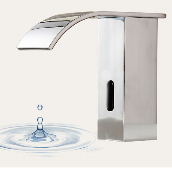 new bathroom automatic free hands touch sensor faucets hot u0026 cold basin chrome brass waterfall sink