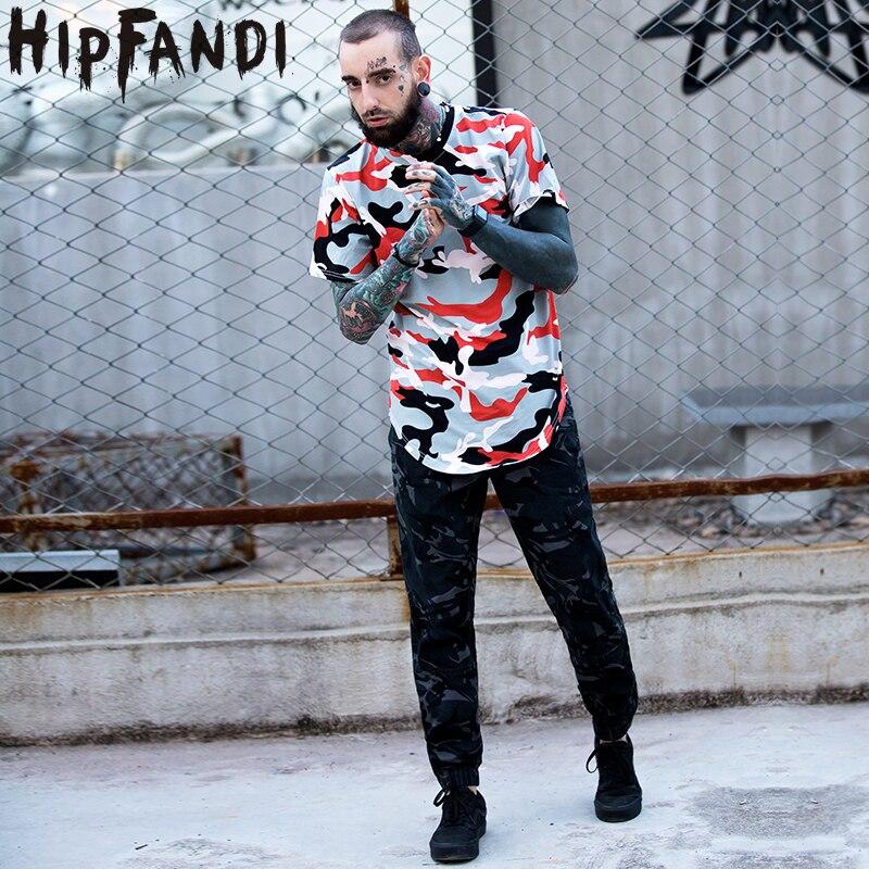 hipfandi new camouflage t shirt men 2017 summer longline curved hem camo streetwear hip hop. Black Bedroom Furniture Sets. Home Design Ideas