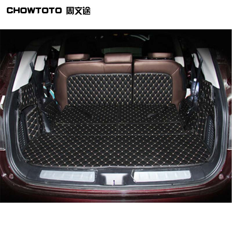 CHOWTOTO AA Special Trunk Mats For Infiniti JX35 7seats Durable Waterproof Carpets For JX35 7 Seats Lagguge Pad
