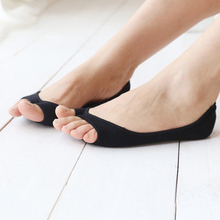 1b5deb8608570 Women Boat Socks Summer Thin Cotton Peep Toe Shoes Socks Female Invisible  Low Cut Ankle Sock