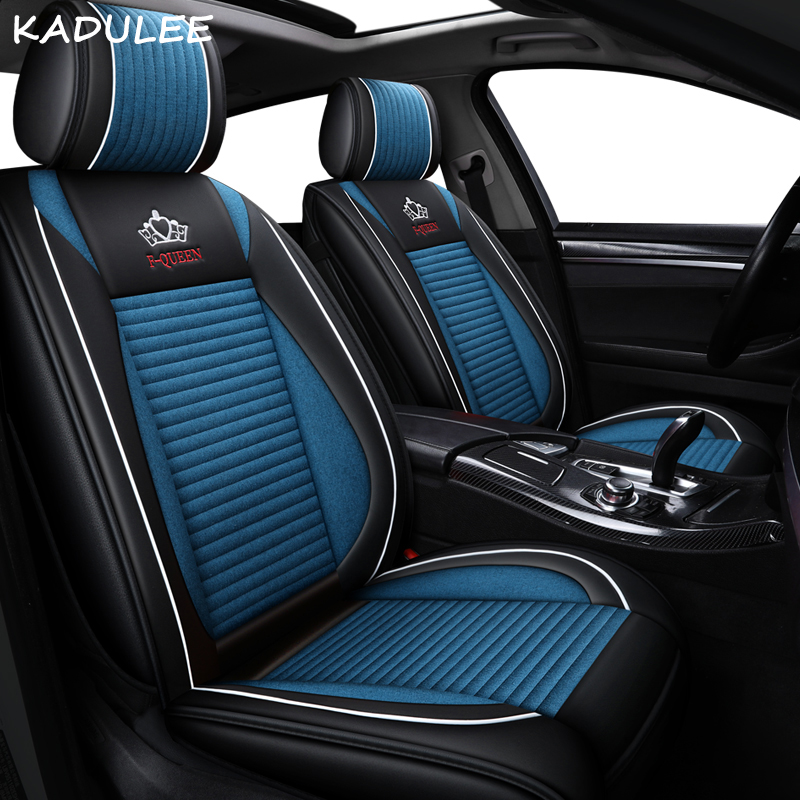 KADULEE auto FLAX car seat covers for dacia duster 2018 logan dokker sandero stepway car seats