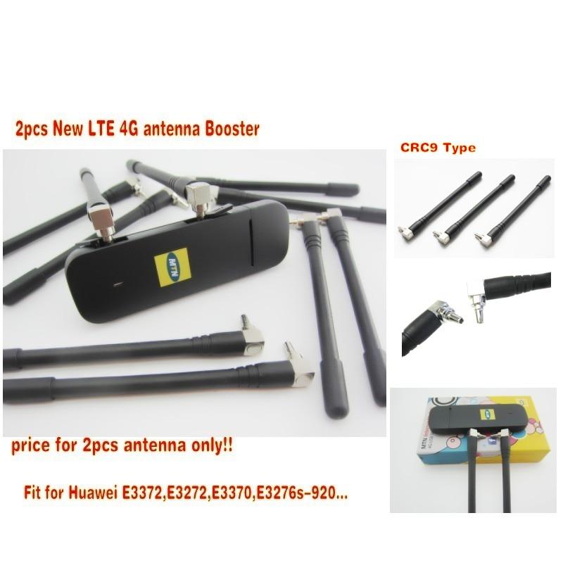 2 pcs Nouveau LTE 4G antenne Booster pour Huawei E3370 E3372 E3272 4G LTE Antenne CRC9 Connecteur livraison gratuite