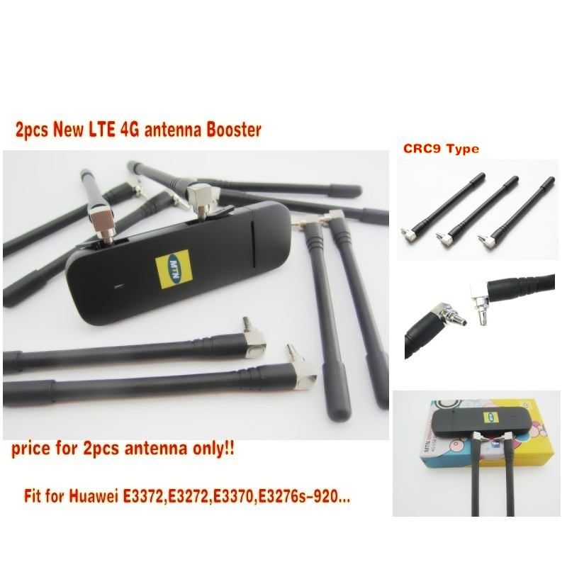 2pcs New LTE 4G antenna Booster for Huawei E3370 E3372 E3272 4G LTE Aerial CRC9 Connector free shipping