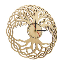 Modern Wall Clock Sacred Geometry Handmade Masterpiece Rustic Wooden Tree Of Life Wall Clock Infinity Tree Home Decor Zen