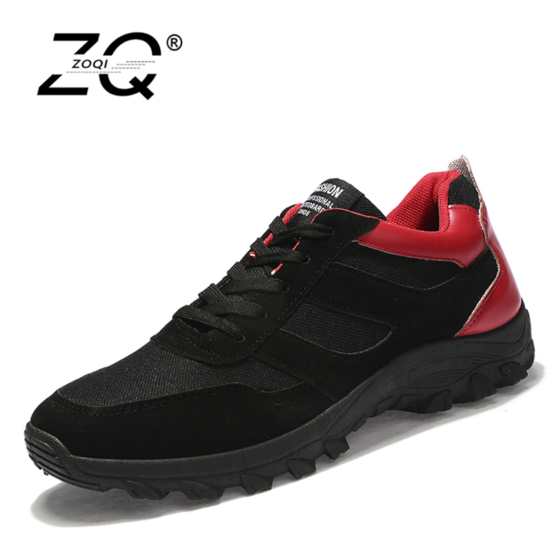 ZOQI Men Casual Shoes Spring Autumn Lace-Up Style Non-slip Mixed Colors Fashion Male Shoe New Arrival High quality spring autumn high quality patchwork future leather high top men casual shoes lace up mixed colors flats ankle wrap mens shoes