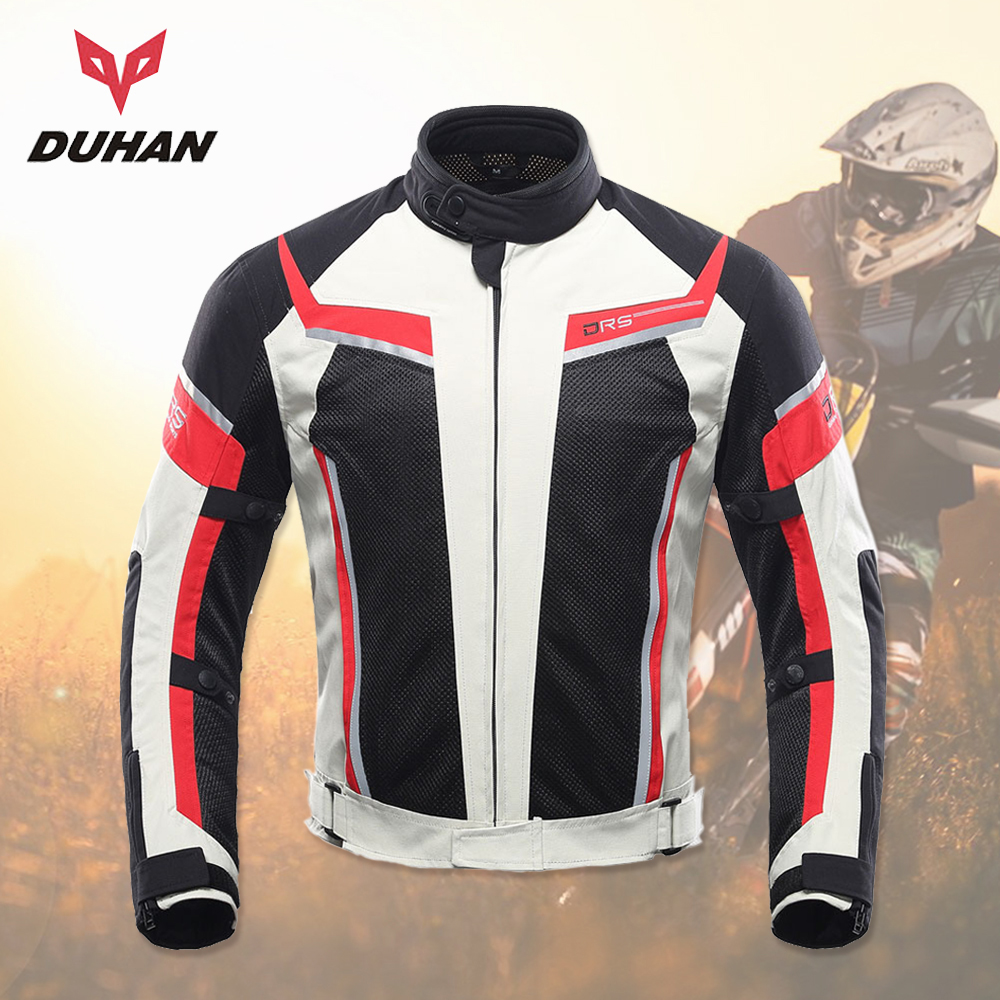 DUHAN Motorcycle Jacket Men Summer Breathable Off-Road Jacket Mesh Moto Racing MotocrossJacket Motorcycle Protective Clothing