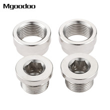 4Pcs/Set O2 Oxygen Sensor Stepped Mounting Boss and Plugs (2 Bungs + 2 Plugs) M18 X 1.5 Fittings steel Weld Bung
