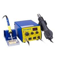 220V Raw BAKU BK 601D LED Digital Display Hot Air SMD Rework Station Hot Air Solder Station BGA Rework With English Manual