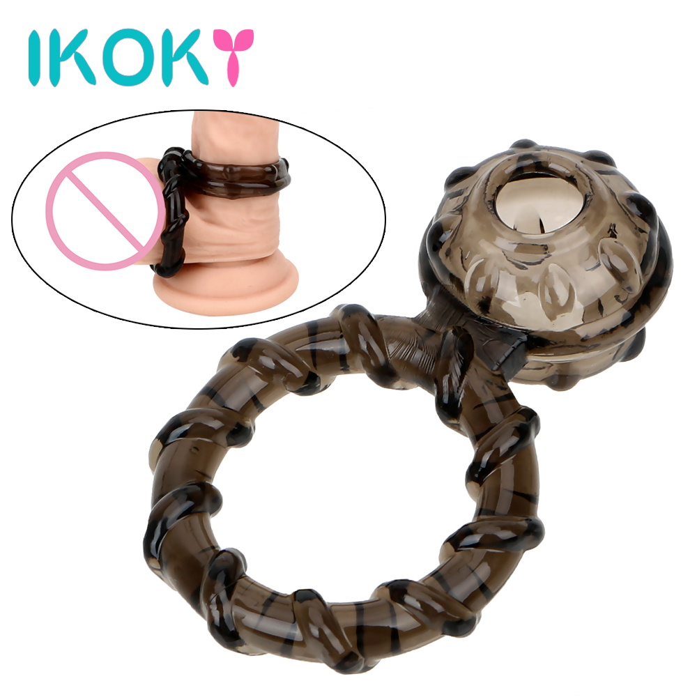 IKOKY Elastic Penis Ring Cock Ring Scrotum Cock Cages Delay Ejaculation Scrotal Binding Adult Products Sex Toys for Men Male soft male dildo scrotal bound penis rings scrotum binding chastity device lock sperm cock ring sex toy for men delay ejaculation