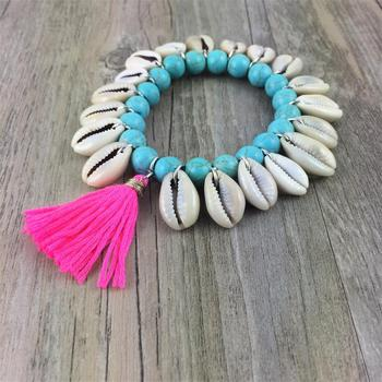 Beads Shell Tassel Bracelet Jewelry Bracelets f02846ee759da375bf7e2a: color 1|color 2
