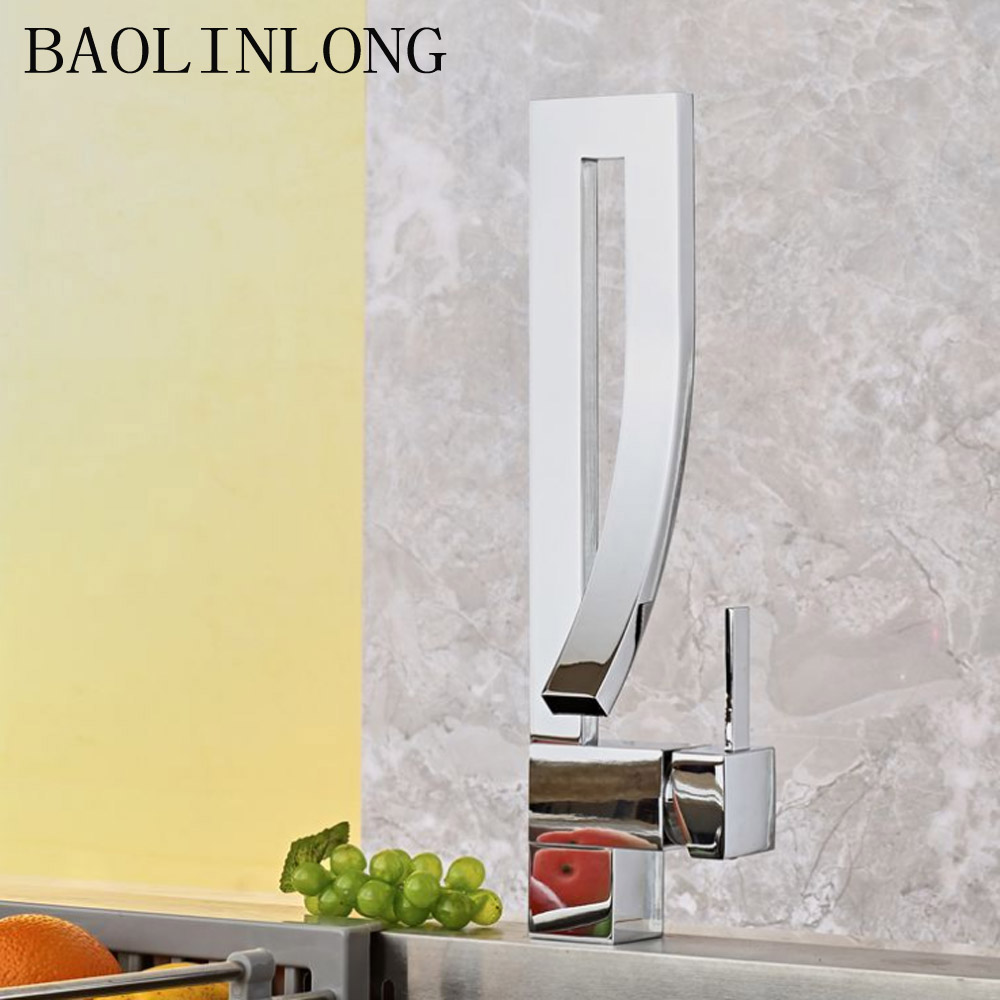 BAOLINLONG Brass Deck Mount Bathroom Faucets Basin Tap Vanity Vessel Sinks Mixer Tap FaucetBAOLINLONG Brass Deck Mount Bathroom Faucets Basin Tap Vanity Vessel Sinks Mixer Tap Faucet