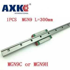 9mm guia linear mgn9 l = 300mm trilho linear maneira + mgn9c ou mgn9h transporte linear longo para cnc x y z eixo