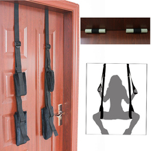 Sex Toys Adult Products Black Appeal  Restraint Fetish Bondage Love Hanging Door Swing Chairs  SM  Sex Games For Enjoy Sex Fun adult sex swing restraint fetish bondage with adjustable soft straps love sex door swing sexy sling sex hanging toys for couples