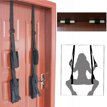 1 set red adult sex swing tripod erotic toys luxury love swing chairs fetish columpio sex toys swing sex furniture eldj55 Sex Toys Adult Products Black Appeal  Restraint Fetish Bondage Love Hanging Door Swing Chairs  SM  Sex Games For Enjoy Sex Fun