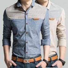 Men s New Spring Shirts 2016 Fashion Brand Clothing Men s Long Sleeve Casual Shirt Cotton