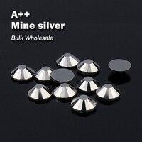 Мое серебро оптовый Hot Fix Стразы подобные SWA AAA Качество strass исправления Камни и кристаллами для одежды украшения