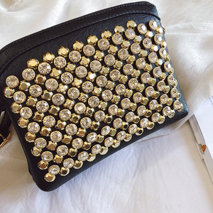 Image 5 - 2019 fashion upstart sequin square bag high quality PU leather womenswear designer luxury handbag single shoulder bag qq246