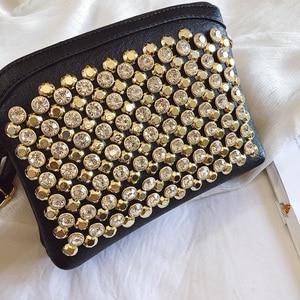 Image 5 - 2019 ファッション upstart はスパンコール正方形バッグ高品質 pu レザー婦人服デザイナー高級ハンドバッグシングルショルダーバッグ qq246