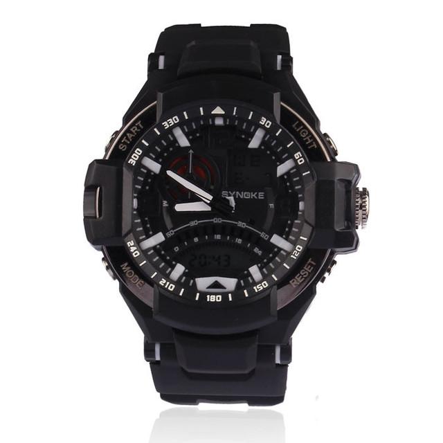 Synoke 2017 nuevos hombres multifunción relojes digitales de goma militar led relojes de pulsera para hombre deportes reloj impermeable de la vida # jo