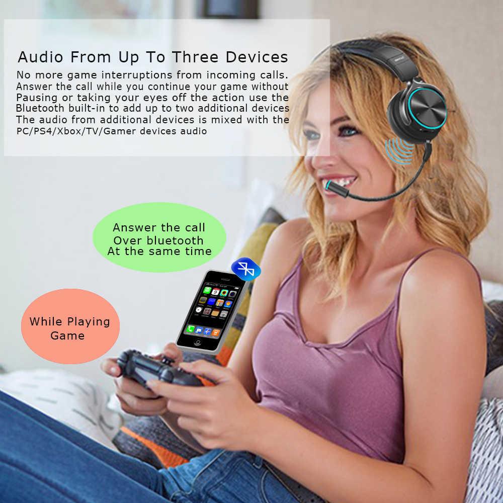 2019 RGB Led 取り外し可能なマイクワイヤレスゲーミングヘッドフォンゲーマー用テレビ、任天堂スイッチ、 PC 、プレイステーション 4 、 Xbox One