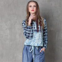 Spring Autumn New Vintage Plaid Print Shirt Female Long Sleeve Womens Blouse Classic Shirt 2017 Cotton