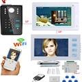 YobangSecurity видеодомофон 2X 7 дюймов монитор Wifi беспроводной видеодомофон дверной звонок камера домофон система с дверным замком