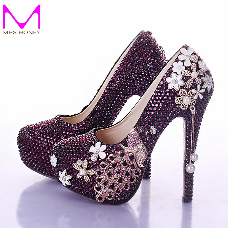 Popular Purple Rhinestone Pumps-Buy Cheap Purple Rhinestone Pumps ...