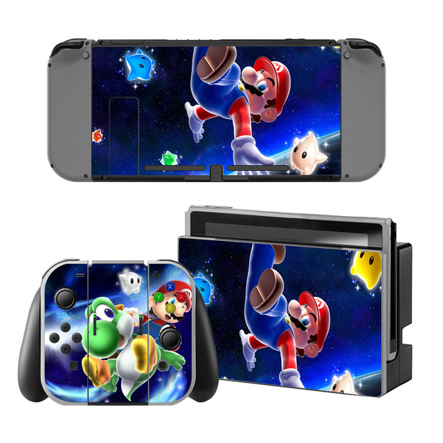 Mario Vinyl Skin Sticker for Switch Console Protector Cover Decal Vinyl Skin for Skins Stickers 1