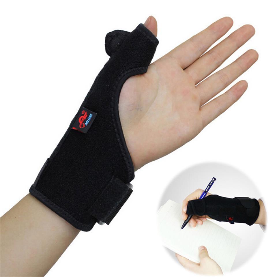 AOLIKES 1PCS Elastic Thumb Wristband Spring Steel Wrap Hand Palm Wrist Brace Right or Left Hand Support Corrector Bandage