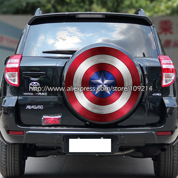 Hot sale captain america shield auto suv sticker decals waterproof large size yyy06