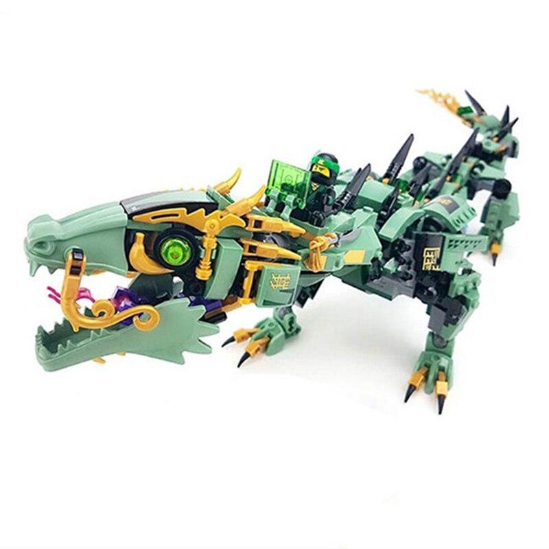 592 pz Serie di Film di Volo mecha drago Building Blocks Giocattoli Dei Mattoni Per Bambini Modello di Regali Compatibile Con LegoINGly NinjagoINGly