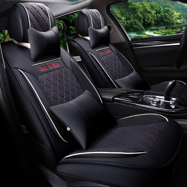Car Styling Leather Seat Covers For Toyota Crown Corolla