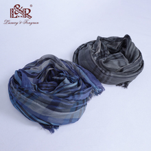 2018 Foulard Plaid Men Silk Scarf Winter Fashion Classical Men Shawl Woman Imitation Cashmere Scarves Tassel Chiffon Hijab Women