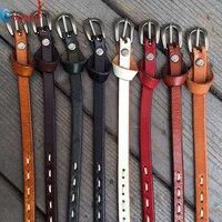 2016 New Top Sale Fashion Women Girl Multi Color Genuine Leather Thin Skinny Cummerbund Waist Belt
