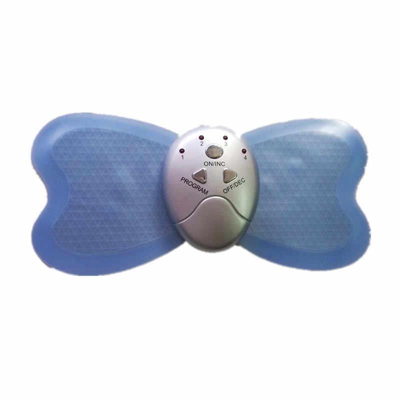 Leistungsstarke Große Schmetterling Massager Pad Aufkleber AB Gymnic Abnehmen Abdominal Muscle Stimulator Taille Arm Bein Verlust Gewicht Massage