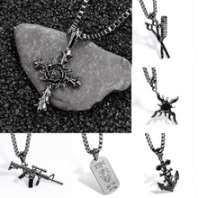 Viking Valknut Cross Necklaces & pendants Jewelry AnchorSteampunk Vintage Chain Necklace Statement Long