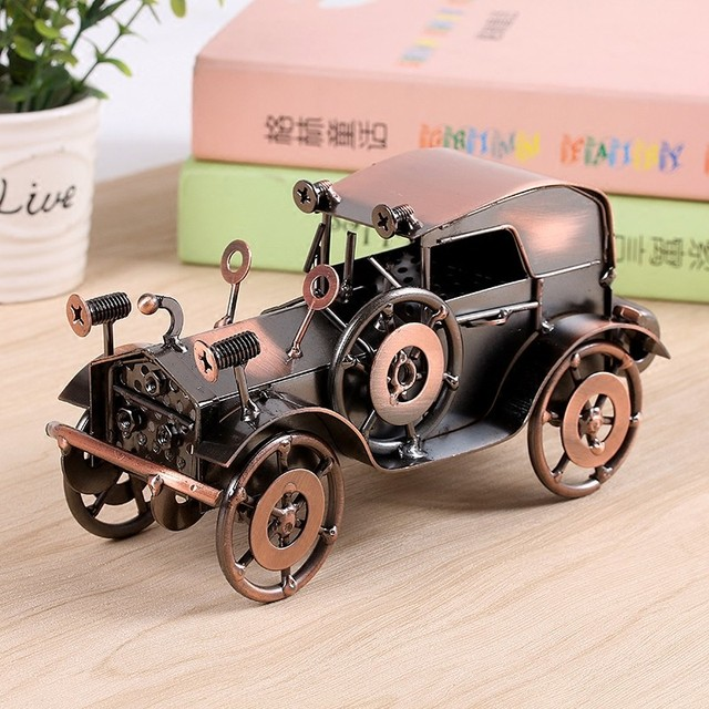 Metal Wrought Iron Classic Car Model Home Interior Decorating Bookcase  Clothing Store Bar Counter