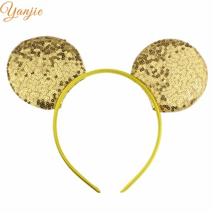 Image 3 - 14pcs/lot 2020 Fashion Sequins Mouse Ears Headband Glittle DIY Girls Hair Accessories For Women Hairband Party Accesorios Mujer