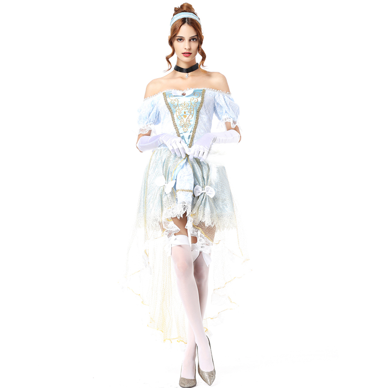 White snow costume cinderella princess dress women sexy halloween costumes for women adult sexy carnival costumes womens