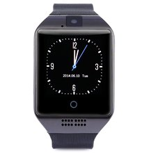 Q18 Graceful ARC Screen font b Smartwatch b font Bluetooth watch phone Intelligent Radio for Android