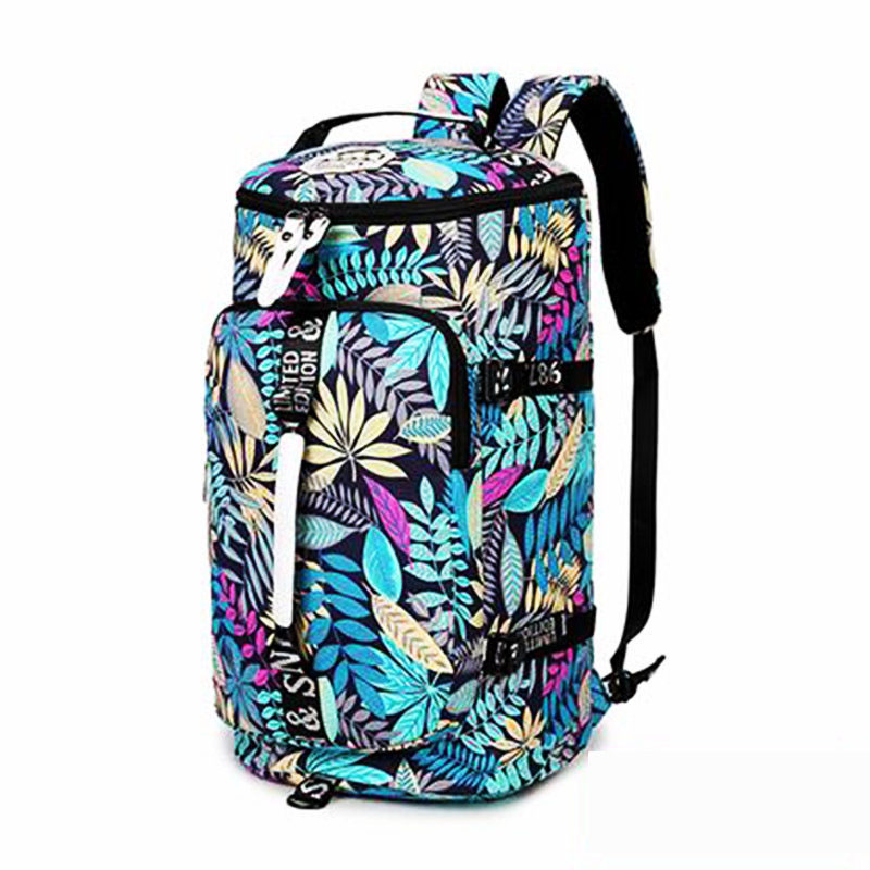 Waterproof canvas gym backpack men women message travel mountaineering single shoulder bag yoga fitness handbag crossbody bag ...